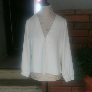 NWOT Topshop White Blouse